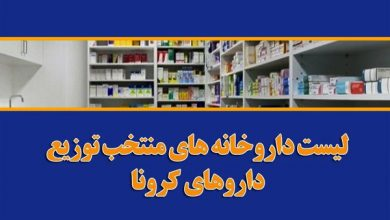 داروخانه های عرضه کننده داروهای کرونا