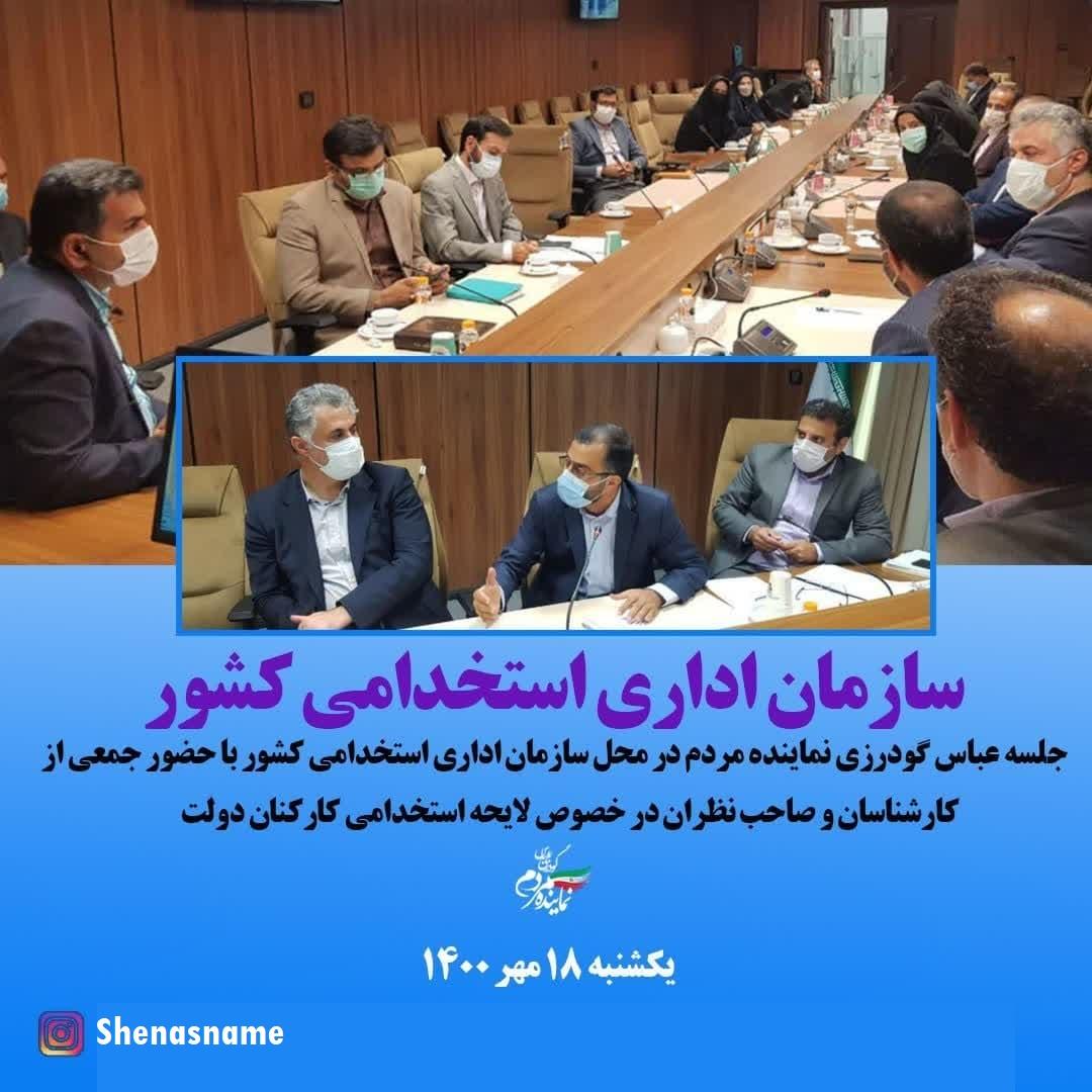 جلسه تدوین لایحه ساماندهی کارکنان دولت